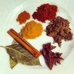 Cumin, anise étoilée, curcuma, paprika, poivre de cayenne, cannelle et feuilles de laurier