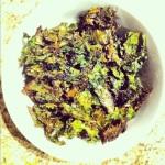 Croustilles de chou vert frisé au cari