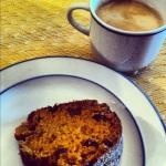 Gâteau à la citrouille et espresso