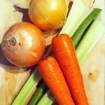 oignon, carotte, céleri