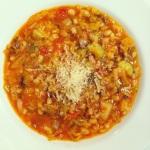 Servir avec du parmesan et un filet d'huile d'olive