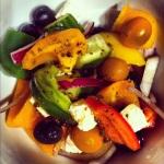 Salade grecque en accompagnement