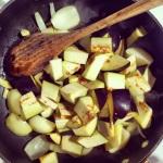 Oignons, ail, aubergines