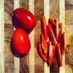 Tomates italiennes en quartiers