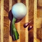 Oignon et ail frais