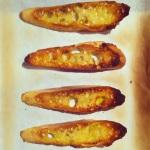 Tranches de pain grillées