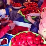 Pelage et égrainage des tomates